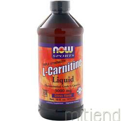 L-Carnitine Liquid 3000mg Citrus 16 fl oz NOW