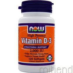 Vitamin D-3 2000IU 120 sgels NOW
