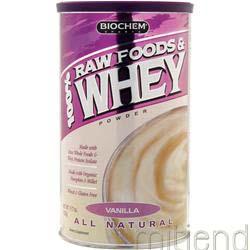 100% Raw Foods & Whey Vanilla 11 7 oz BIOCHEM