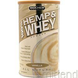 100% Hemp & Whey Vanilla 12 2 oz BIOCHEM