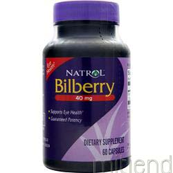 Bilberry 40mg 60 caps NATROL