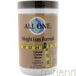 Weight Loss Formula Natural Cocoa 14 8 oz ALL ONE