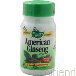 American Ginseng 50 caps NATURE'S WAY