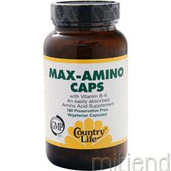 Max-Amino with B-6 180 caps COUNTRY LIFE