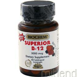 Superior B-12 3000mcg Berry 50 lzngs COUNTRY LIFE