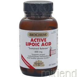 Active Lipoic Acid 300mg - Sustained Release 60 tabs BIOCHEM
