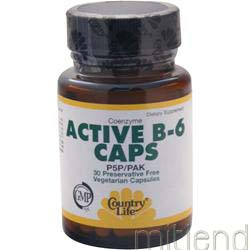 Active B-6 Caps 30 caps COUNTRY LIFE