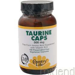 Taurine Caps 500mg 100 caps COUNTRY LIFE