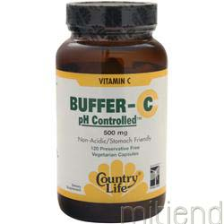 Buffer-C pH Controlled 500mg 60 tabs COUNTRY LIFE