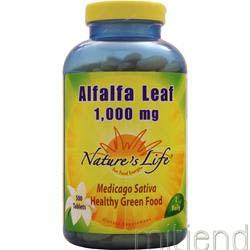 Alfalfa Leaf 500 tabs NATURE'S LIFE