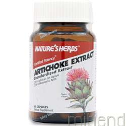 Artichoke Extract 60 caps NATURE'S HERBS