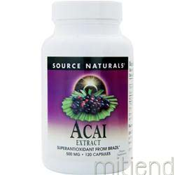 Acai Extract 500mg 120 caps SOURCE NATURALS
