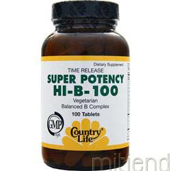 Super Potency HI-B-100 100 tabs COUNTRY LIFE