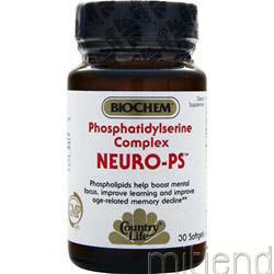 Neuro-PS Phosphatidylserine Complex 30 sgels BIOCHEM