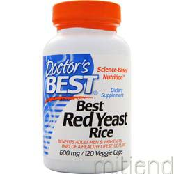 Best Red Yeast Rice 600mg 120 caps DOCTOR'S BEST