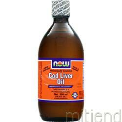 Cod Liver Oil Lemon 16 9 fl oz NOW