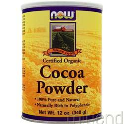 Cocoa Powder Certified Organic 12 oz NOW
