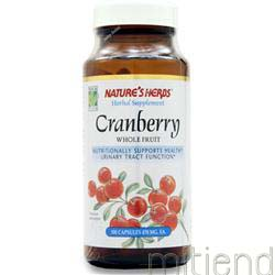 Cranberry Whole Fruit 100 caps NATURE'S HERBS