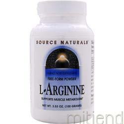 L-Arginine Free-Form Powder 100 gr SOURCE NATURALS