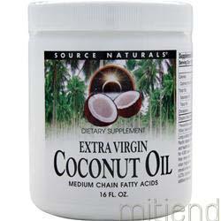 Extra Virgin Coconut Oil 16 oz SOURCE NATURALS