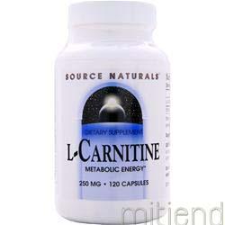 L-Carnitine 250mg 120 caps SOURCE NATURALS