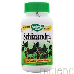 Schizandra 580mg 100 caps NATURE'S WAY