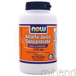 Alfalfa Juice Concentrate 650mg 180 caps NOW