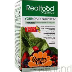 Real Food Organics Your Daily Nutrition 60 tabs COUNTRY LIFE