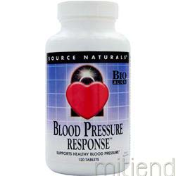 Blood Pressure Response 120 tabs SOURCE NATURALS