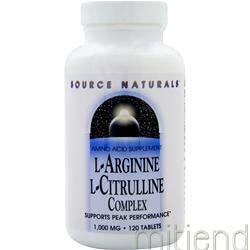 L-Arginine L-Citrulline Complex 1000mg 120 tabs SOURCE NATURALS