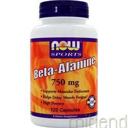 Beta-Alanine 750mg 120 caps NOW