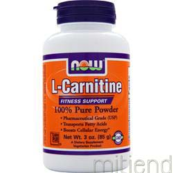 L-Carnitine 100% Pure Powder 3 oz NOW