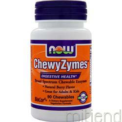 ChewyZymes Natural Berry 90 wafrs NOW