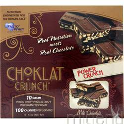 Choklat Crunch Bar Milk Chocolate 12 bars POWER CRUNCH