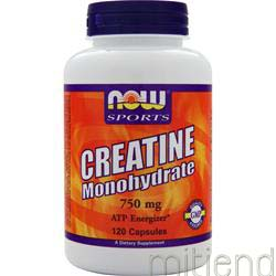 Creatine Monohydrate 750mg 120 caps NOW