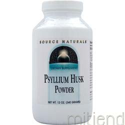 Psyllium Husk Powder 12 oz SOURCE NATURALS