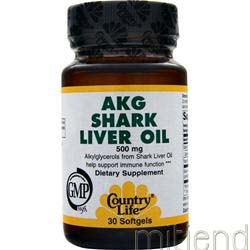 AKG Shark Liver Oil 30 sgels COUNTRY LIFE
