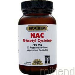 NAC N-Acetyl Cysteine 750mg 60 caps BIOCHEM