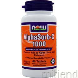 AlphaSorb-C 1000 60 tabs NOW