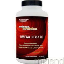 Omega 3 Fish Oil 120 sgels CHAMPION NUTRITION