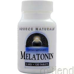 Melatonin 5mg 120 tabs SOURCE NATURALS
