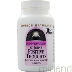 St  John's Positive Thoughts 90 tabs SOURCE NATURALS