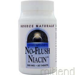 No-Flush Niacin 500mg 60 tabs SOURCE NATURALS