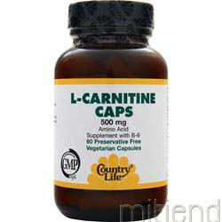 L-Carnitine 500mg 60 caps COUNTRY LIFE