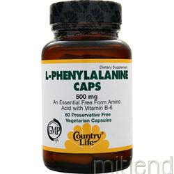 L-Phenylalanine 500mg 60 caps COUNTRY LIFE