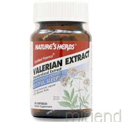 Valerian Extract - Standardized 60 caps NATURE'S HERBS