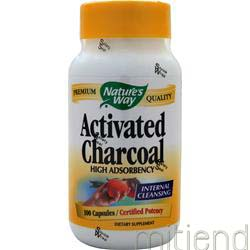 Activated Charcoal 100 caps NATURE'S WAY