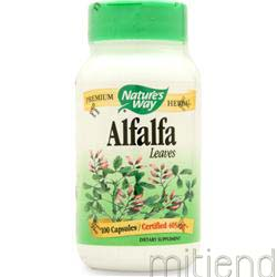 Alfalfa Leaves - Certified Organic 100 caps NATURE'S WAY