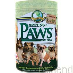 Paws for Dogs Healthy Skin and Coat Beef Flavor 120 wafrs GREENS PLUS
