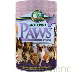 Paws for Dogs for Healthy Joints Beef Flavor 120 wafrs GREENS PLUS